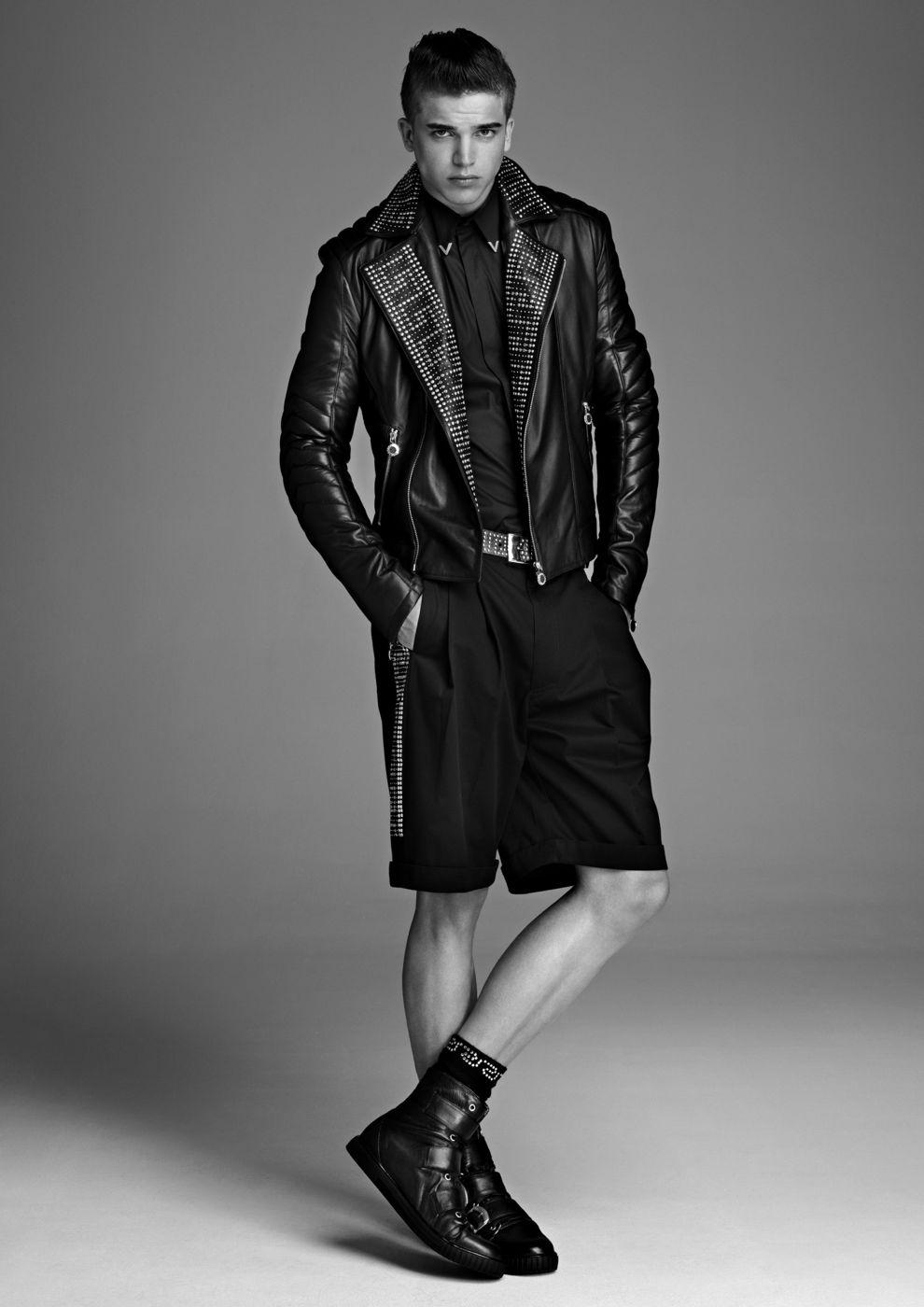 Botas de cuero Versace para H&M