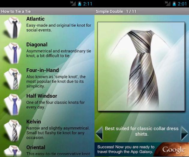 App Nudos de Corbata