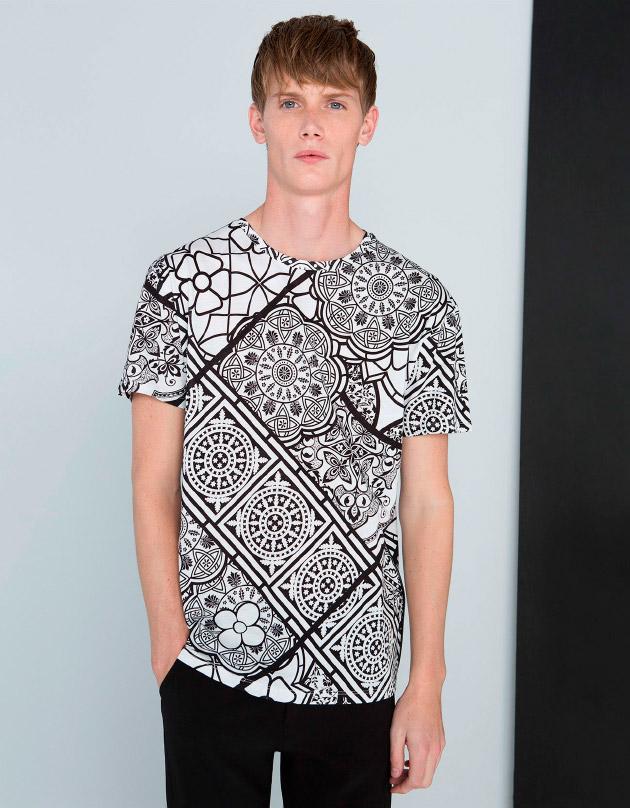 Camiseta XMAS de estampado geométrico