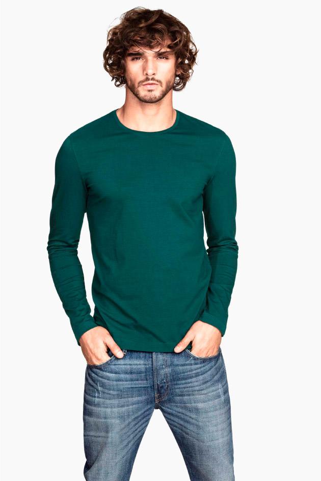 Camiseta lisa en verde