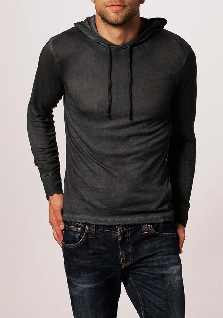 Jersey gris con capucha Monish