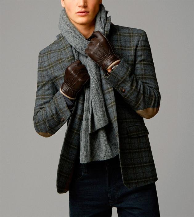 Look con americana de lana a cuadros