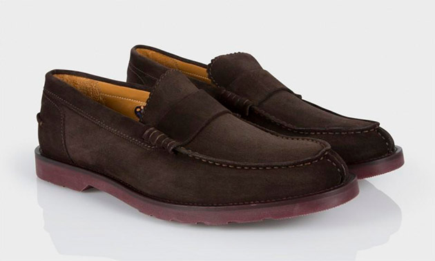 Mocasines marrones de cuero Paul Smith