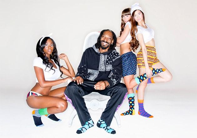 Snoop Dogg crea una colección de calcetines para Happy Socks