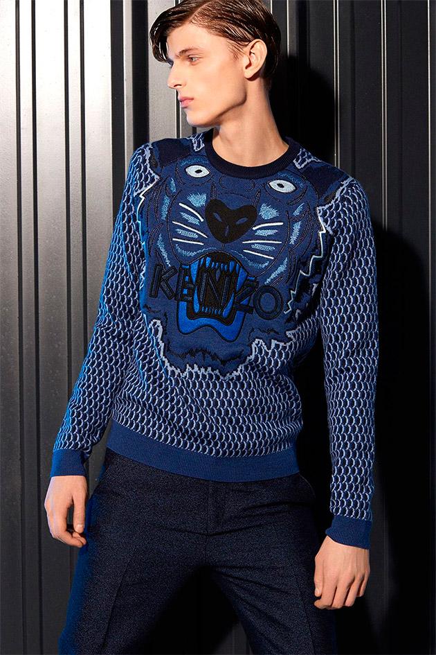 Suéter Tigre en azul