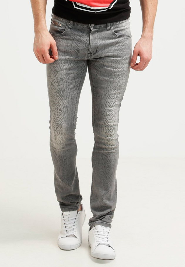 Vaqueros slim fit de color gris claro