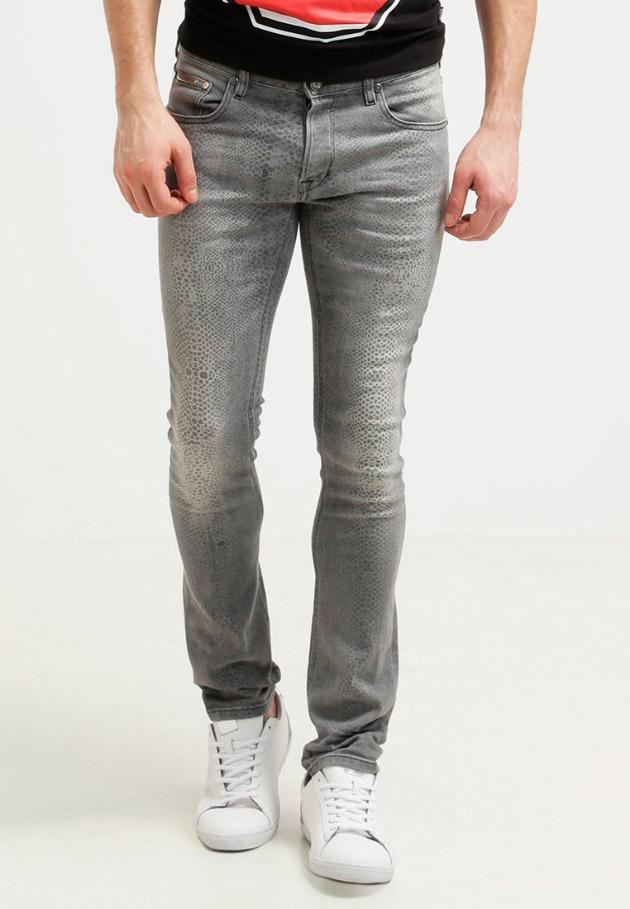 Pantalones vaqueros pitillo de hombres men tendencias - Color gris claro ...