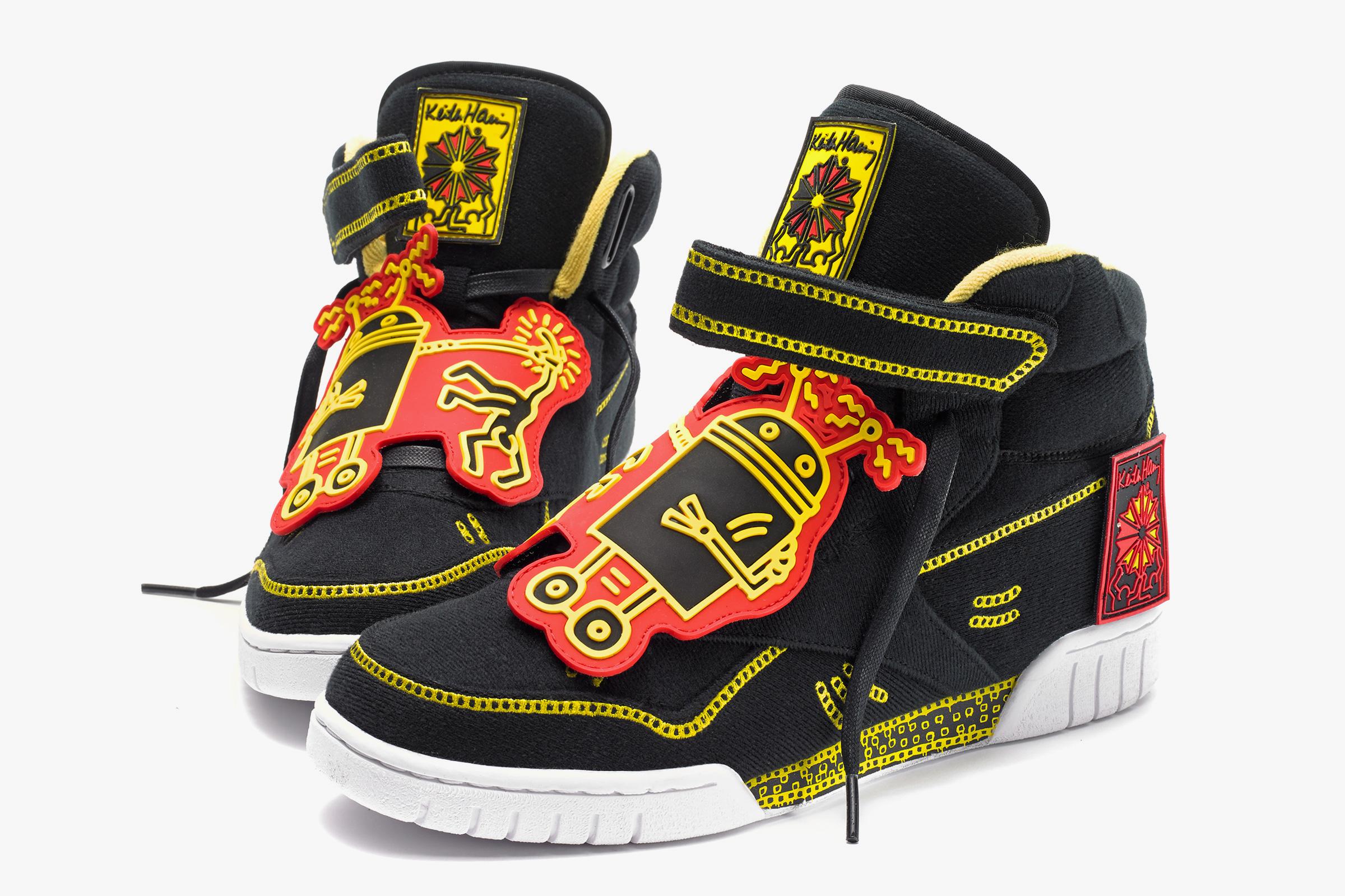 Zapatillas Reebok de Keith Haring negras y amarillas