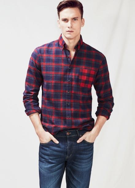 Estilo clásico con camisa de cuadros classic-fit
