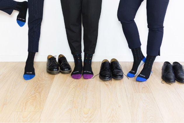 Combina los calcetines con los pantalones