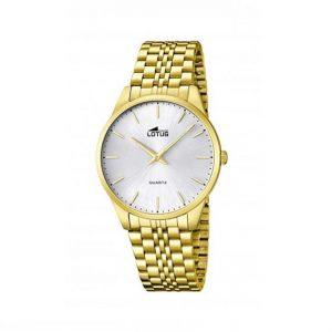 e01522f60bba El primer reloj Lotus dorado que hemos seleccionado es un dispositivo  analógico para hombre elaborado con cuarzo de la mejor calidad que también  cuenta con ...